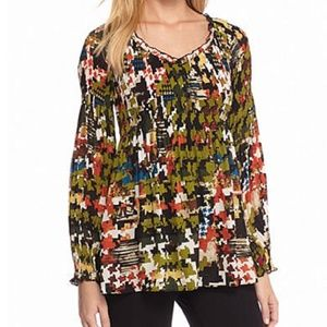 Melissa Paige Womens Top Long Sleeve Black V-Neck
